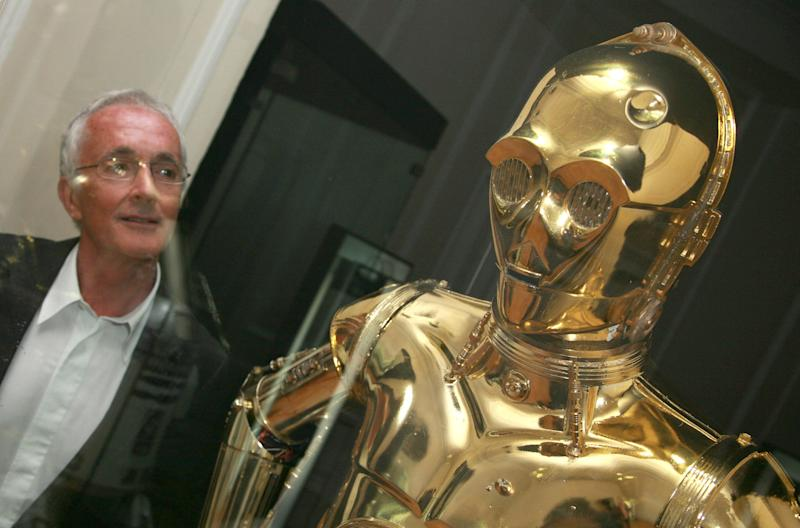 "Anthony Daniels with C-3PO during ""Star Wars"": The Exhibition at County Hall in London, Great Britain. (Photo by Eamonn McCormack/WireImage)"