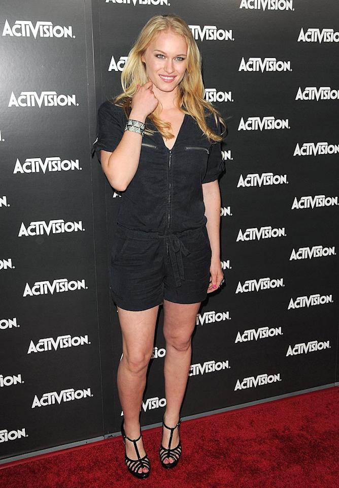 """Grey's Anatomy's"" Leven Rambin hit the red carpet sporting a cute black romper and strappy heels. Jordan Strauss/<a href=""http://www.wireimage.com"" target=""new"">WireImage.com</a> - June 14, 2010"