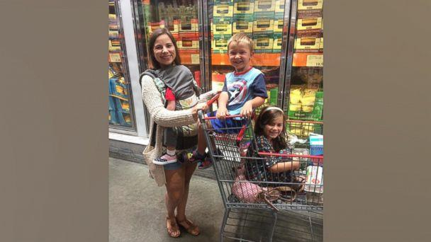 PHOTO: Brittany Williams, 27, shops for food with her three children. (Courtesy Brittany Williams)