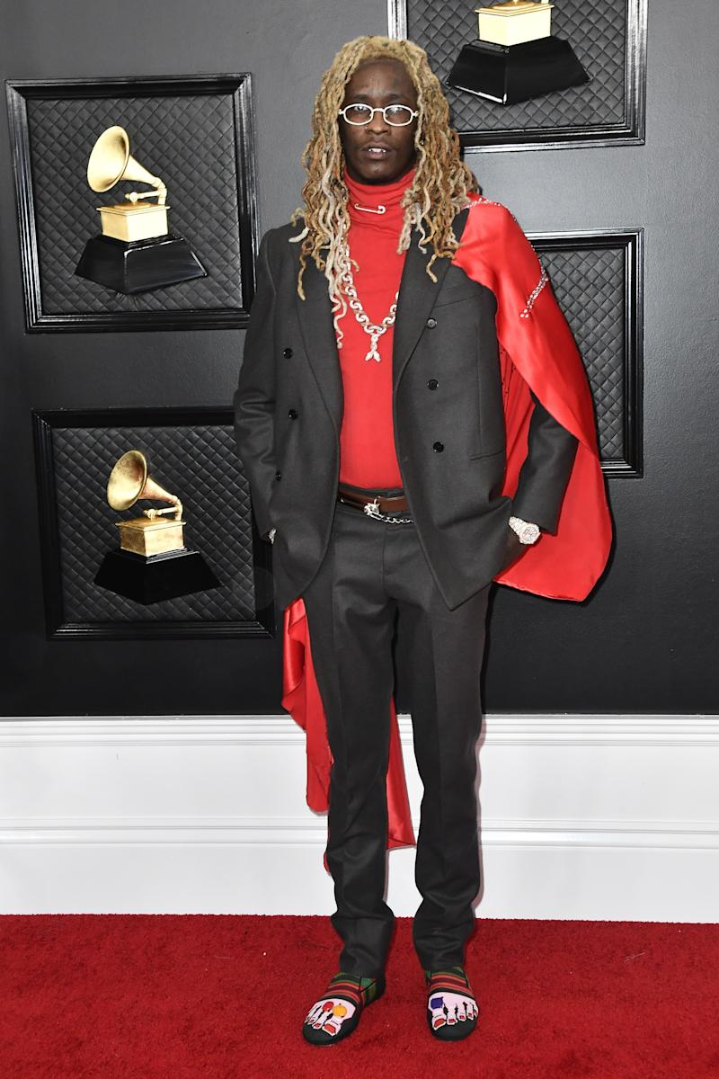Young Thug at the Grammy Awards in Los Angeles, January 26, 2020.