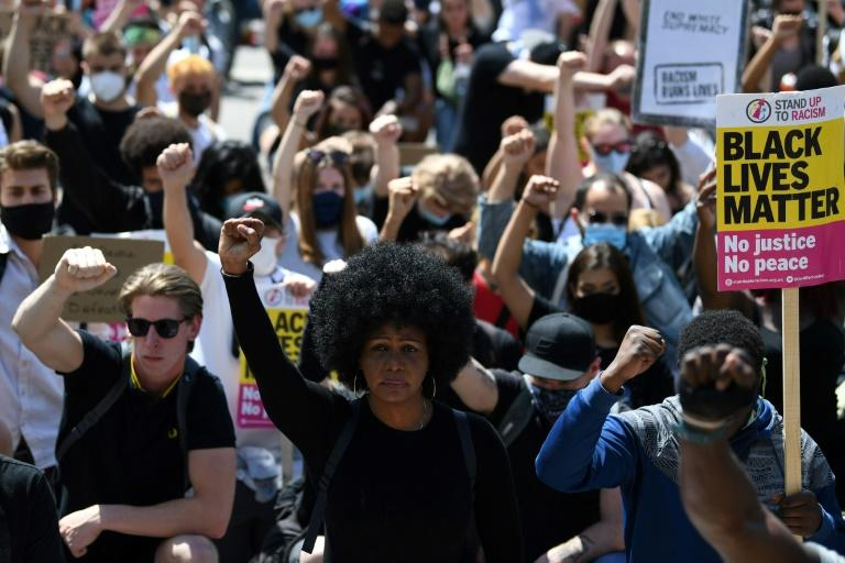 Britain has seen a wave of protests prompted by the death during a US police arrest of George Floyd, an unarmed African-American, which has triggered outrage around the world (AFP Photo/DANIEL LEAL-OLIVAS)