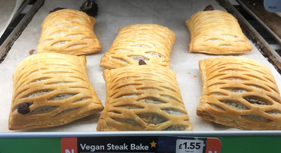 Greggs have launched their long-awaited vegan steak bake [Image: Getty]