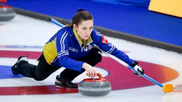 Laura Walker, pictured at a previous event, booked her ticket to the Canadian Olympic curling trials in Saskatoon after her team claimed an 8-4 win over Team Brown at the trials direct-entry event in Ottawa on Sunday. (Jeff McIntosh/The Canadian Press - image credit)