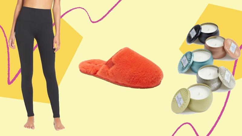 """<a href=""""https://fave.co/3feQzbt"""" target=""""_blank"""" rel=""""nofollow noopener noreferrer"""">Nordstrom&rsquo;s 2020 Anniversary Sale</a>is now available to shop for all Nordstrom cardholders. We found loungewear in the sale, from <a href=""""https://fave.co/3fSLlSj"""" target=""""_blank"""" rel=""""noopener noreferrer"""">best-selling high-waisted leggings</a> to popular <a href=""""https://fave.co/3iB8zxX"""" target=""""_blank"""" rel=""""noopener noreferrer"""">fuzzy Ugg slippers</a>. (Photo: HuffPost)"""