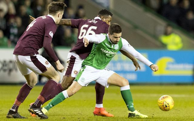 Hibernian 2 Hearts 0: Scott Allan and Jamie Maclaren strike to claim Edinburgh bragging rights