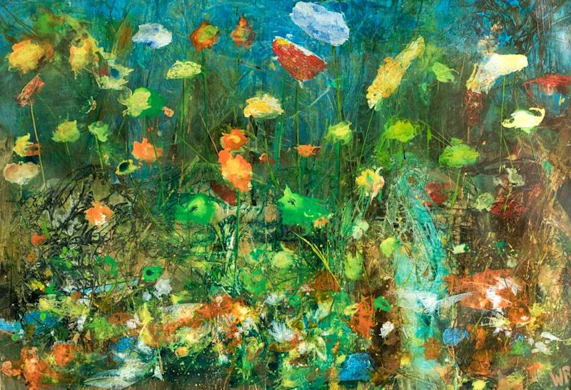 Blooming talent: Willy Russell's art includes Callow Wild Flowers: Willy Russell