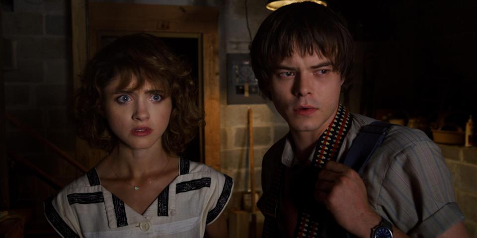 Dyer and her boyfriend Charlie Heaton in 'Stranger Things'Netflix