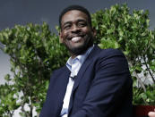 """FILE - In this Jan. 24, 2017, file photo, former NBA basketball player Chris Webber attends a sports and activism panel entitled """"From Protest to Progress: Next Steps"""" in San Jose, Calif. In a week in which racial injustice took center stage following the events in Wisconsin, Black sports media personalities came to the forefront with their views and drove dialogue not seen on many other platforms. While Webber and Jalen Rose said the conversations were meaningful, it wasn't the first time. (AP Photo/Marcio Jose Sanchez, File)"""