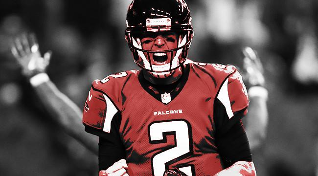 Seattle Seahawks vs Atlanta Falcons in National Football League playoffs 2017