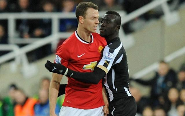 <span>Evans was banned for spitting at Papiss Cisse in his last season at Old Trafford</span>