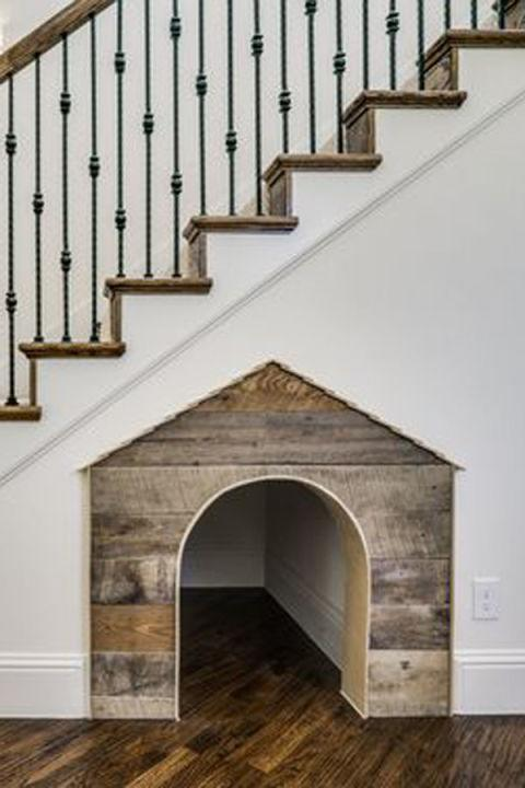 "<p>Give your beloved pet a cozy place to hang out with this cute idea.</p><p><strong>See more at <a rel=""nofollow"" href=""http://bannistercustomhomes.com/"">Bannister Custom Homes</a></strong><span><strong>.</strong></span></p>"