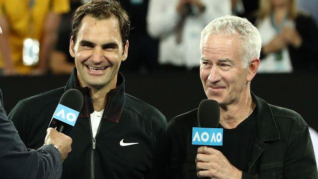 Federer and McEnroe. Image: Getty