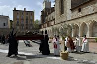 La procession du Sanch du vendredi saint à Perpignan, le 2 avril 2021