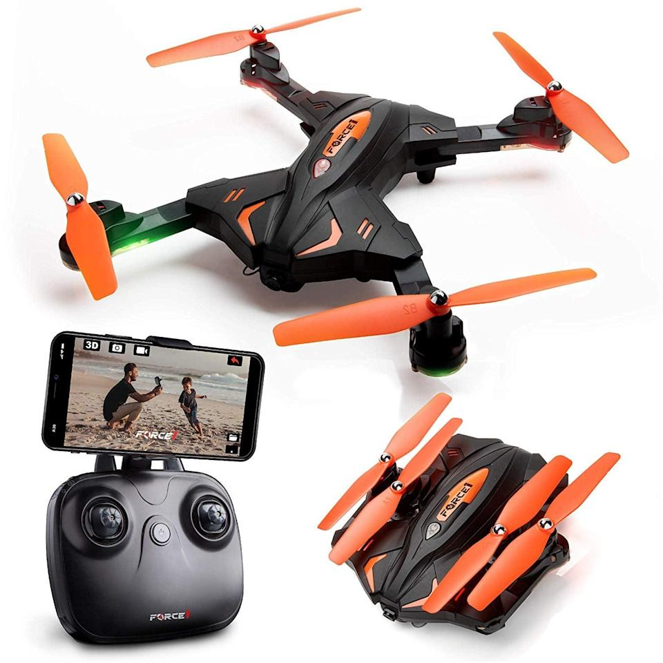"<p>They'll have so much fun with this <a href=""https://www.popsugar.com/buy/Foldable-Drones-Camera-545962?p_name=Foldable%20Drones%20with%20Camera&retailer=amazon.com&pid=545962&price=64&evar1=savvy%3Auk&evar9=47175844&evar98=https%3A%2F%2Fwww.popsugar.com%2Fsmart-living%2Fphoto-gallery%2F47175844%2Fimage%2F47176092%2FFoldable-Drones-with-Camera&list1=shopping%2Cgadgets%2Cgifts%20for%20men&prop13=api&pdata=1"" class=""link rapid-noclick-resp"" rel=""nofollow noopener"" target=""_blank"" data-ylk=""slk:Foldable Drones with Camera"">Foldable Drones with Camera</a> ($64).</p>"