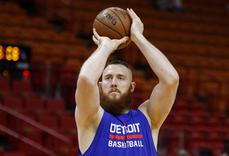 Aron Baynes has played five NBA seasons with San Antonio and Detroit. (AP)