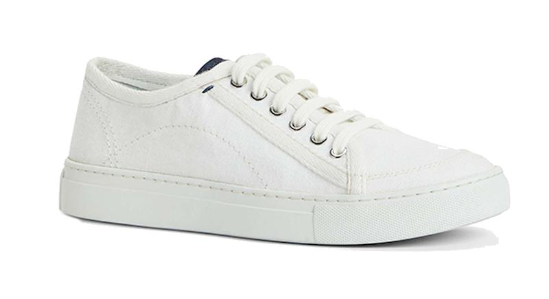 Kin Eaden Canvas Lace Up Trainers