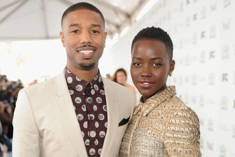 Michael B. Jordan and Lupita Nyong'o