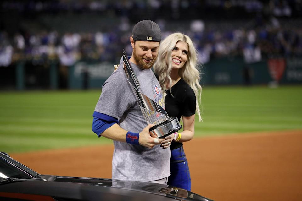 Ben Zobrist and wife Julianna have filed documents to end their marriage. (Photo by Ezra Shaw/Getty Images)