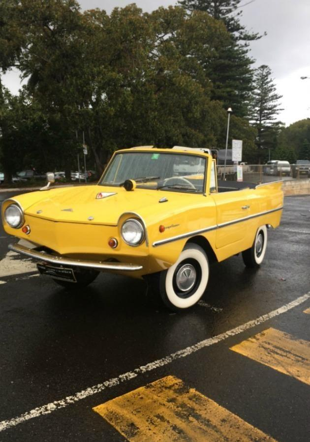 The 1966 Amphicar 770 is the newest addition to the Gosford Classic Car Museum. Source: Be