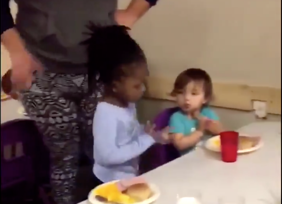 A video taken at a Texas daycare center shows an adult pulling a toddler's hair. (Photo: Twitter)