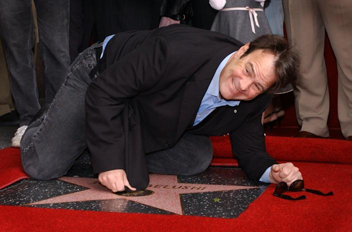 "<div class=""inline-image__caption""><p>Dan Aykroyd attends the ceremony posthumously honoring actor/comedian John Belushi with a star on the Hollywood Walk of Fame in Hollywood, California. </p></div> <div class=""inline-image__credit"">Vince Bucci/Getty</div>"