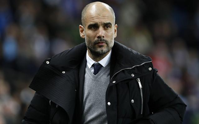 <span>Pep Guardiola's Manchester City are three places ahead of Arsenal</span>