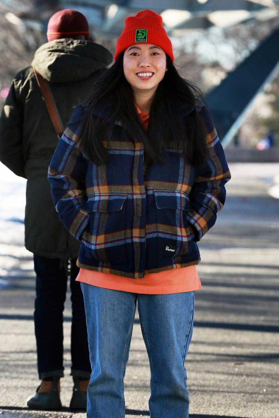 <p>Another day, another shoot for Awkwafina, who continues filming <em>Awkwafina Is Nora from Queens</em> in New York City on Wednesday.</p>