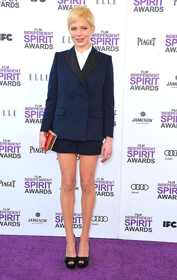 SANTA MONICA, CA - FEBRUARY 25:  Michelle Williams arrive at the 2012 Independent Spirit Awards at Santa Monica Pier on February 25, 2012 in Santa Monica, California.  (Photo by Steve Granitz/WireImage)