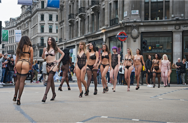 The women wore nothing but lingerie [Photo: Bluebella]