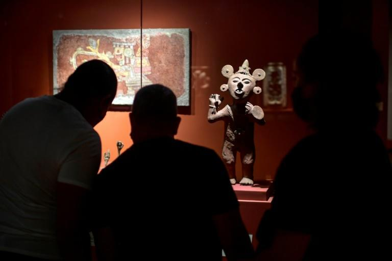 Mexico's government says that it has recovered more than 5,700 artefacts from abroad since late 2018 (AFP/Pedro PARDO)