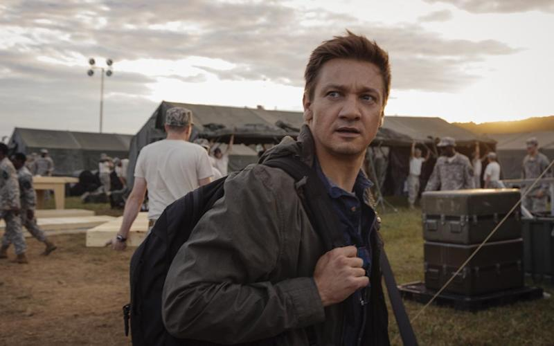 "This image released by Paramount Pictures shows Jeremy Renner in a scene from ""Arrival."" (Jan Thijs/Paramount Pictures via AP)"