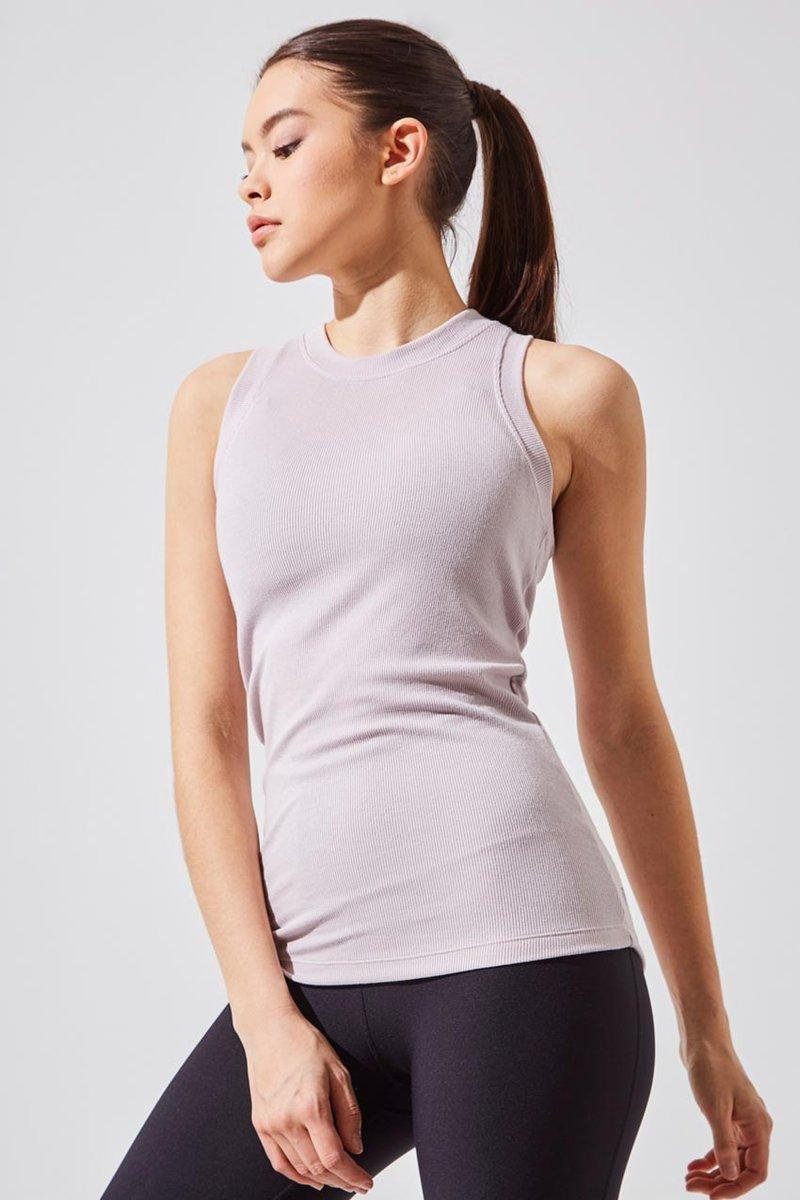 Elevate Natural Modal Micro Ribbed Tank. Image via MPG Sport.