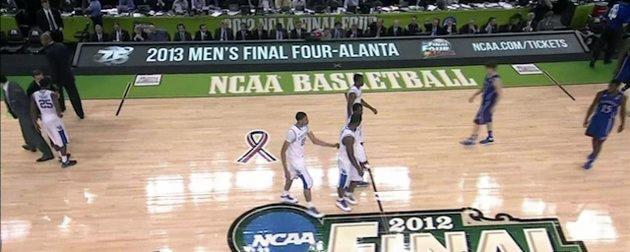 "During a 2012 NCAA championship game at the New Orleans Superdome, the rotating message board on the sideline advertised tickets to the 2013 Final Four in ""Alanta."""