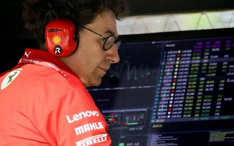 September 20, 2019 Ferrari's team principal Mattia Binotto during practic - Credit: REUTERS