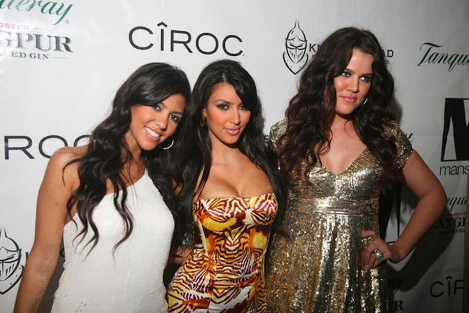Kourtney, Kim and Khloe at New Years Eve 2008 at Mansion hosted by Kim Kardashian. Photo Credit: A. Gilbert / PR Photos