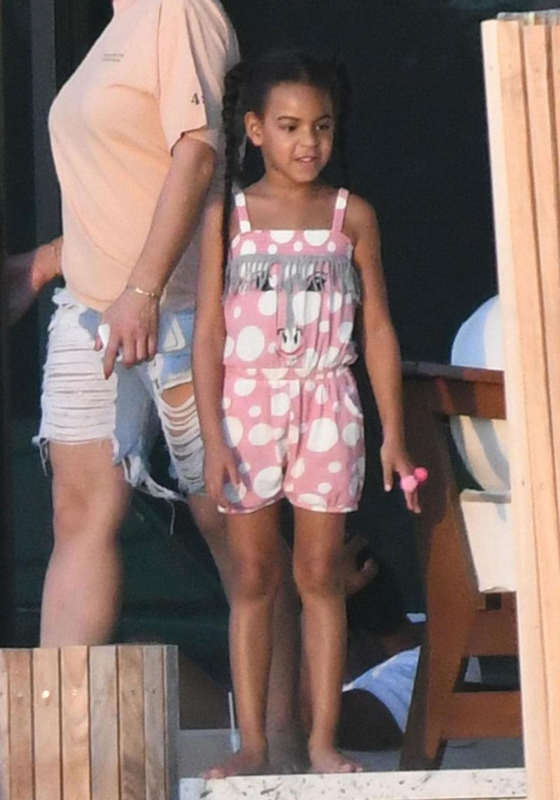 Beyonce and Jay Z's five-year-old daughter Blue Ivy was also there. Source: Mega