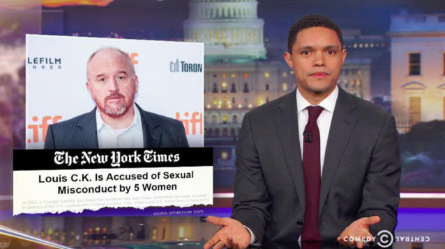 "Trevor Noah responded on Thursday night to the bombshell New York Times report detailing alleged sexual misconduct by comedian Louis C.K. with a clever idea: ""All women in Hollywood should win double Oscars for acting like all the men [in Hollywood] were cool, all along, every single one of them."""