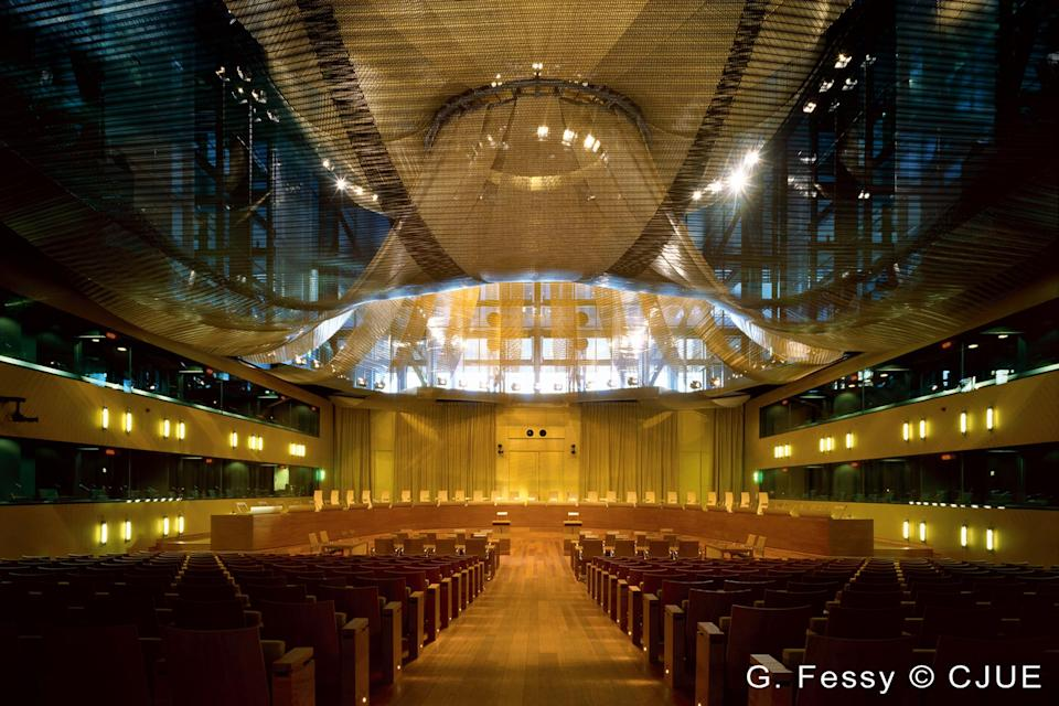 The main court room of the ECJ in Luxembourg (ECJ)