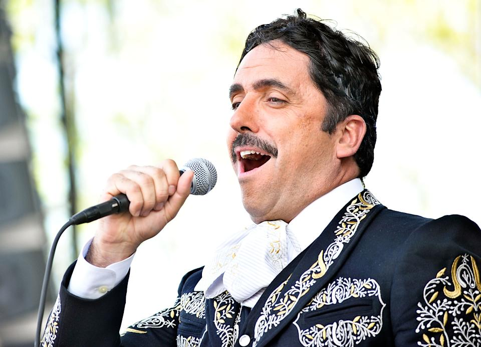 NEW YORK, NY - MAY 05:  Rafael Negrete performs during the Que Bonito Amor presentation at the Festival Cinco de Mayo in Flushing Meadows Corona Park on May 5, 2013 in New York City.  (Photo by Daniel Zuchnik/Getty Images)