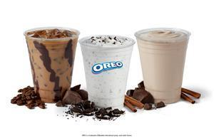 Del Taco's Chocodays Beverages include the OREO® Cookie Horchata Shake, Mexican Chocolate Shake and Mocha Iced Coffee.