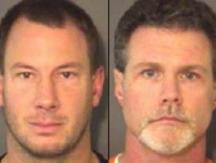 John Dickson (left) and Kenneth Kelly were arrested following a fight outside a middle school wrestling match -- Union County Sheriff's Office
