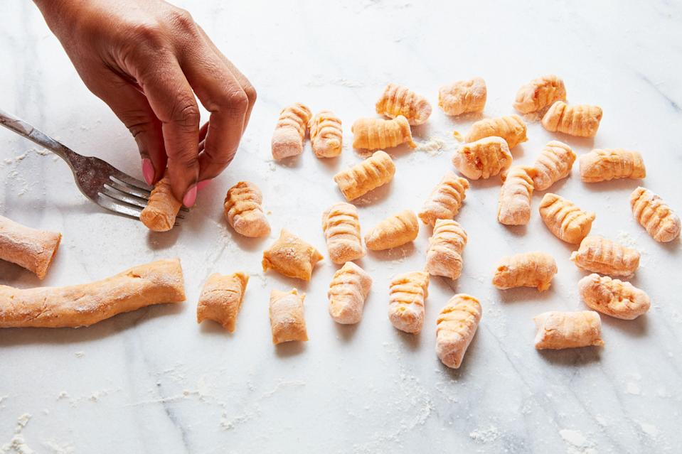 For a fancy touch, make gnocchi with the imprint of the tines of a fork.