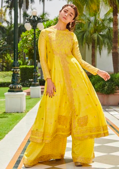 <p>Alia Bhatt's promotional style for 'Kalank' have left us wanting to see more of this beauty in Indian outfits. Apart from the whites, she has been wearing a lot of bright colours in the form of yellows and reds. Her simple hairstyles and dewy makeup are ideal for the summer. Check out all her recent outfits she wore while promoting the film. </p>