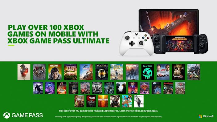 Microsoft's Xbox Game Pass Ultimate comes with a library of over 100 games that you can either download or stream. It's scheduled to launch on September 15.