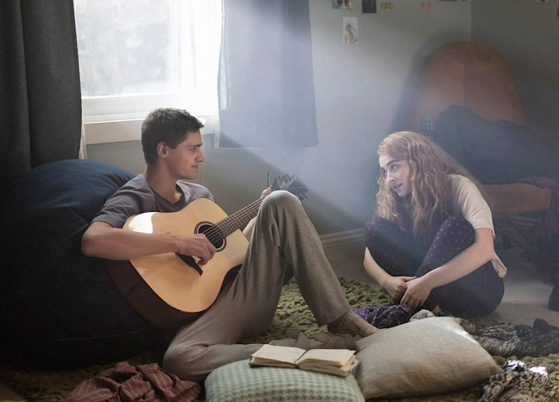 """Inspirational drama """"Clouds"""" features Fin Argus as a musically gifted 17-year-old diagnosed with a rare form of bone cancer and Sabrina Carpenter plays his best friend and bandmate."""