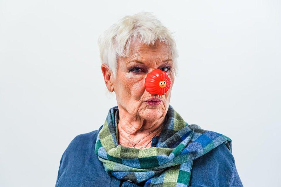 """<p>Backing an important cause, Dench stars with Benedict Cumberbatch in the Red Nose Day short film<em>, """"What is it to be human?"""" </em></p>"""