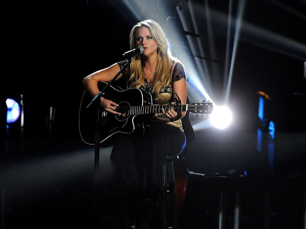"Musician Miranda Lambert performs ""More Like Her"" on stage during the 42nd Annual CMA Awards at the Sommet Center on November 12, 2008 in Nashville, Tennessee."