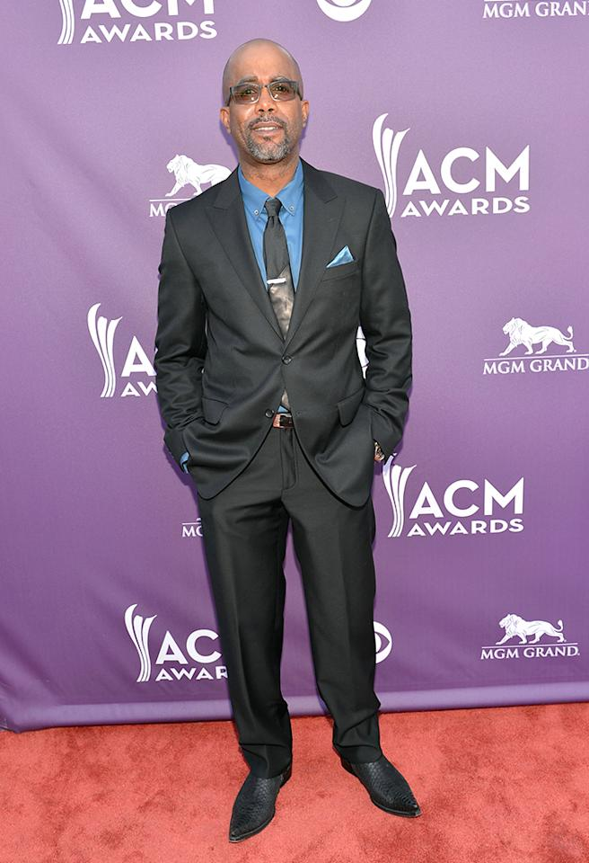 LAS VEGAS, NV - APRIL 07:  Musician Darius Rucker attends the 48th Annual Academy of Country Music Awards at the MGM Grand Garden Arena on April 7, 2013 in Las Vegas, Nevada.  (Photo by Rick Diamond/ACMA2013/Getty Images for ACM)