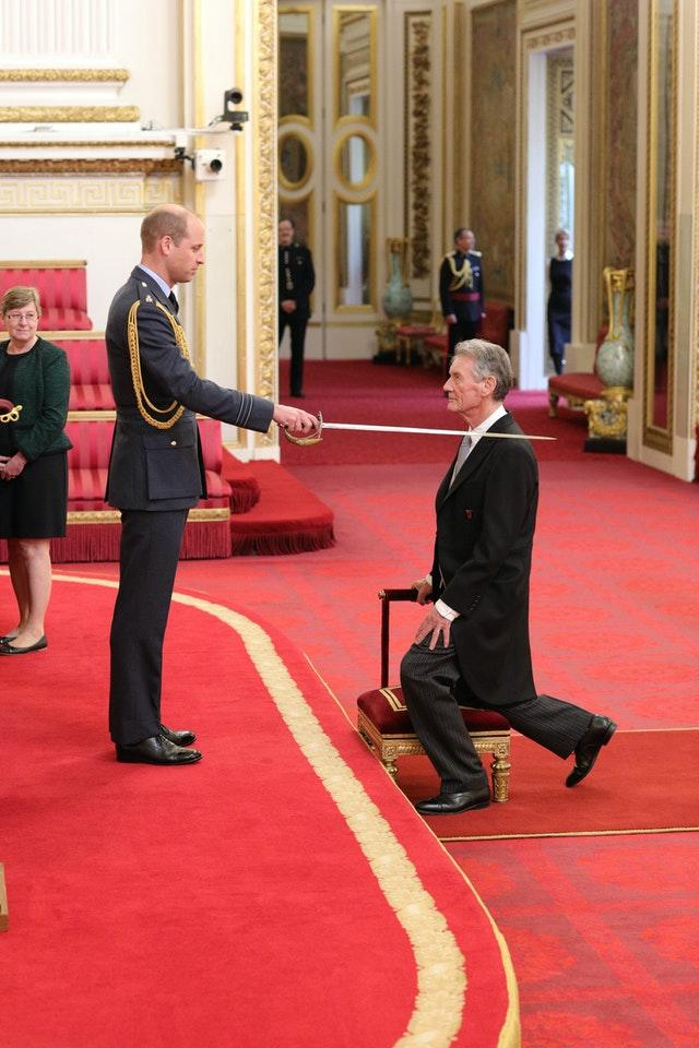 Sir Michael Palin is made a Knight at Buckingham Palace