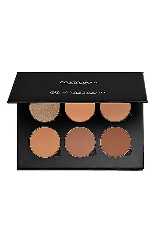 """<p>For Sir John, whose clients include Beyoncé and Joan Smalls, it's all about shade range when it comes to contouring. """"Anastasia of Beverly Hills Contour Kit is probably one of the most popular and has the greatest range in shades, which makes it easy for anyone to use,whether they be from Harlem or Hong Kong,"""" he says.</p><p>Anastasia Beverly Hills Contour Kit, $40;<u><a rel=""""nofollow"""" href=""""http://www.sephora.com/contour-kit-P386335?skuId=1658830"""">sephora.com</a></u></p>"""